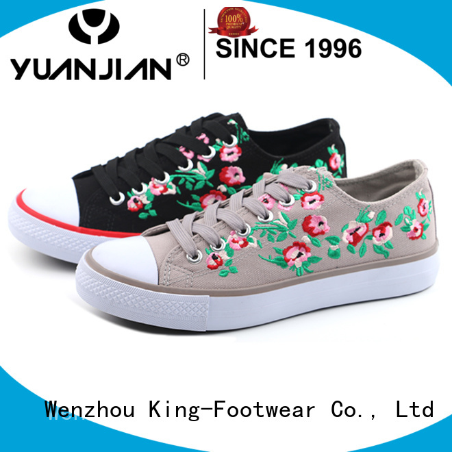 King-Footwear good quality womens canvas trainers promotion for daily life