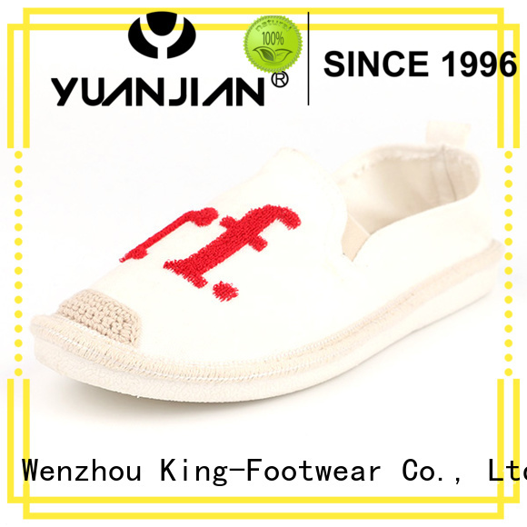King-Footwear beautiful jeans canvas shoes promotion for school