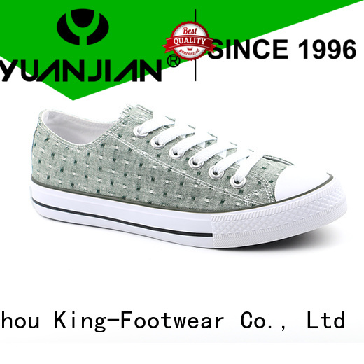 King-Footwear beautiful canvas shoes online factory price for travel