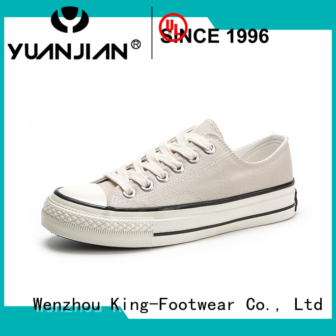 beautiful latest canvas shoes factory price for school
