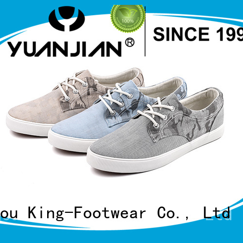 King-Footwear durable ladies canvas shoes factory price for school
