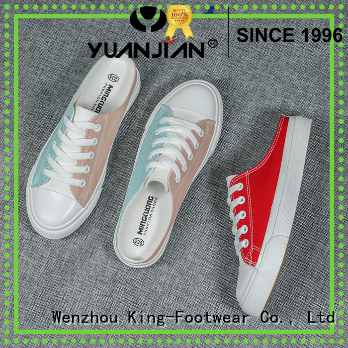 King-Footwear durable casual canvas shoes promotion for school