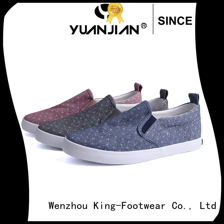 King-Footwear beautiful fashion canvas shoes manufacturer for working