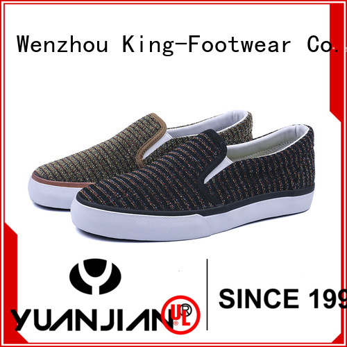 King-Footwear slip on skate shoes personalized for traveling