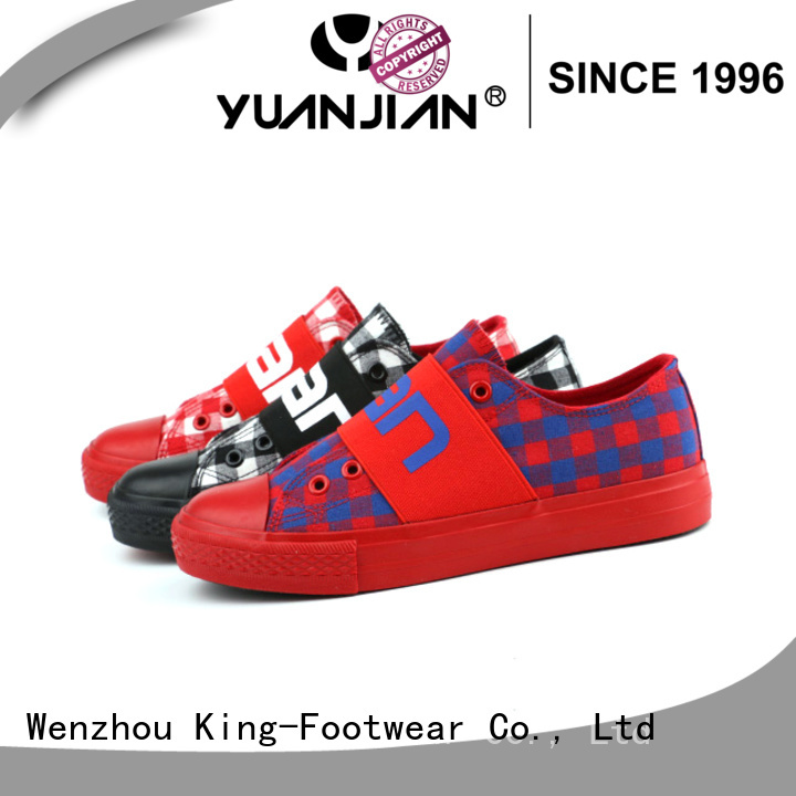 King-Footwear fashion canvas shoes factory price for travel